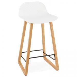 Tabouret chaise de bar mi-hauteur scandinave SCARLETT